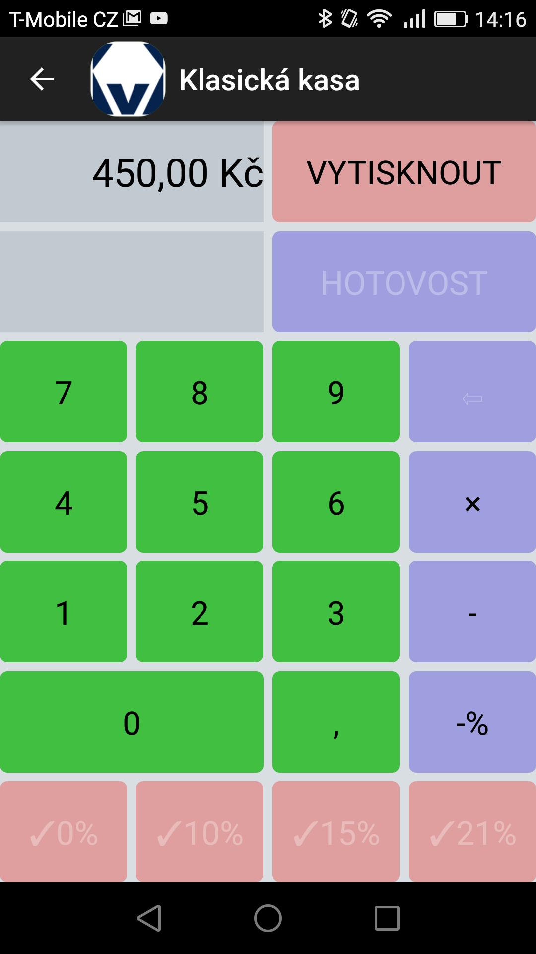 Klasická Kasa, EET , Klasická pokladna, pokladna pro mobil, pokladna android, android
