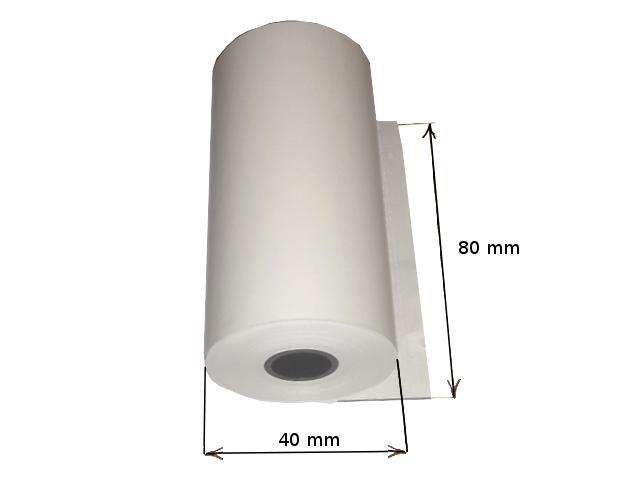 Termopapír do tiskárny 80mm x 40mm  x 12 mm