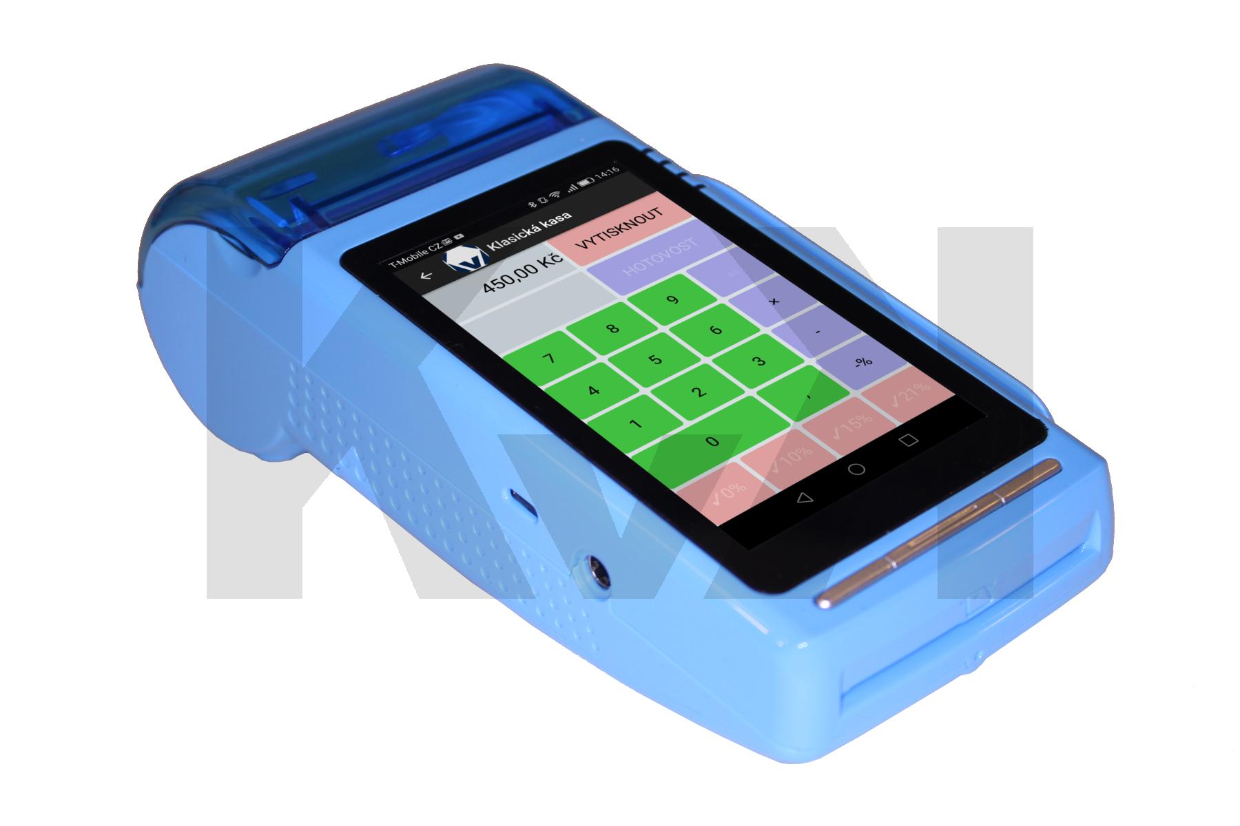 EET, EET pokladna, EET kasa, malá pokladna, kapesní podkladna, pokladní terminál, android pokladna