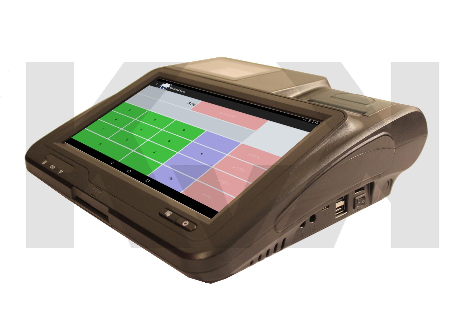 Stolní pokladna, pokladna na pult, EET, EET pokladna, EET kasa, malá pokladna, kapesní podkladna, pokladní terminál, android pokladna